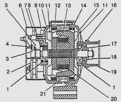 Генератор двигателя ЗМЗ-406.