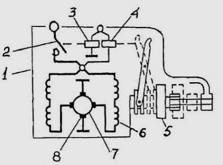 схема стартера ЗМЗ-406 .